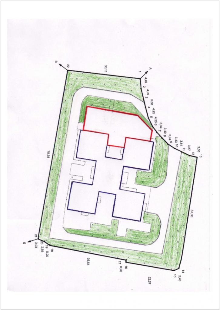 Початкова схема території майданчика